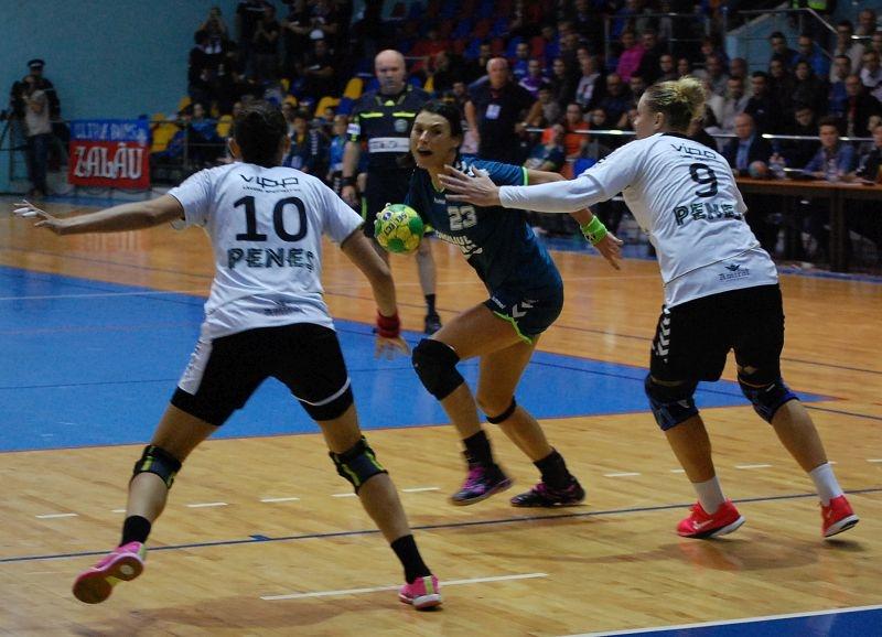 "HC Zalău – ""U"" Alexandrion Cluj 30 – 25 (16 – 13)"