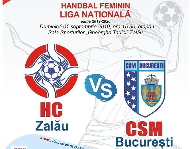 HC Zalau - CSM Bucuresti duminica de la ora 15,30