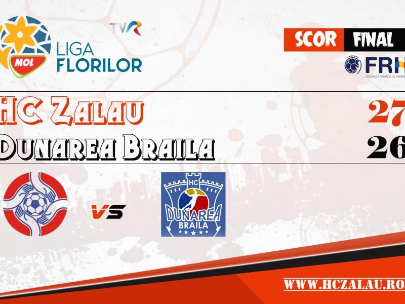 HC Zalău - Dunarea Brăila 27-26